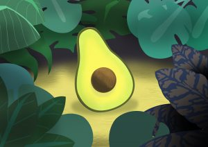 #findyourthing, Avocado, painting, wall art, redbubble, artist, green decorative, nature, food, vegan, vegetarian,